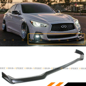 FOR 18-2021 Infiniti Q50 Sport Winglet Design Front Bumper Lip Spoiler Splitter