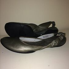 Privo by Clarks Slingback Leather Ballet Flats Women's Size 7.5M Pewter