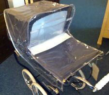 Dolls Pram Rain Cover for Silver Cross Toy Oberon Chatsworth Cottingley Princess