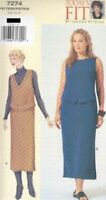 Pattern Vogue Sewing Woman Dress Pullover EASY Sandra Betzina Sz 18-26 OOP 2000