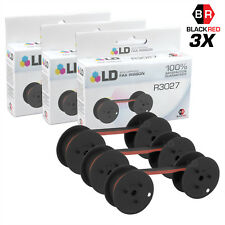 LD Compatible Data Supply R3027 Set of 3 Black and Red Printer Ribbons