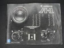 Canon A-1 1982 Slr Camera Instruction Book / Manual / User Guide