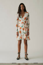 GANNI Tilden Mesh Wrap Dress Size 36 Orig. $235 NWT