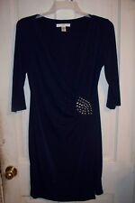 "Navy Blue Dress by AA Studio"" Size 12"" ""Silver Embellishment"""