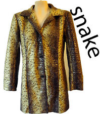 Snake leopard shiny vegan jacket coat animal faux fur print matrix tiger Large