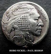 HOBO NICKEL #HN1    BY PAUL BISHOP I'M LISTING 7 NEW HOBO'S IN THE AUCTION ALL