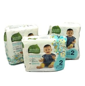 Seventh Generation Free & Clear Diapers Size 2 Sensitive Skin 96 Ct 12 to 18 lbs