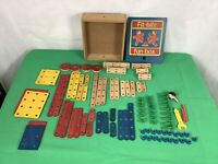 Vintage 1960s Fit-Bits Engineering Construction Wooden Toy Set
