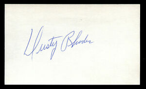 Dusty Rhodes (d. 2009) signed autograph Baseball 3x5 Index Card 4064-16