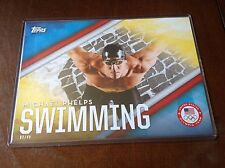 2016 Topps Jumbo 5x7 MICHAEL PHELPS Ser #'d 2/49 Olympics Large Card Swimming