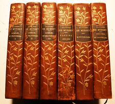 MUSSET/OEUVRES/ED LEMERRE/1907-1908/ILL HENRI PILLE/6 VOLUMES SUR 10