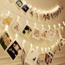 20 LED Photo Peg Clip LED Fairy String Light Wedding Hanging Picture Decor