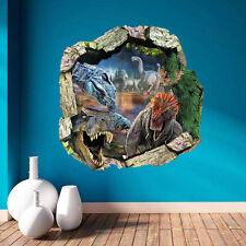 Dinosaurs World 3D T-Rex Wall Sticker for Kids Room Home Decors JURASSIC WORLD