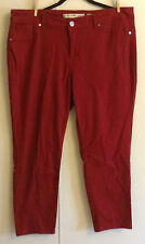 Women's Vanilla Star Jeans Burgundy Red Skinny Fit Jeans Size 18