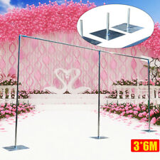 3x6m Adjustable Curved Pipe and Drape Backdrop Support Kit  for Wedding Party