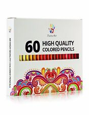 Colored Pencils 60 Unique Colors -Positive Art— Perfect for adult coloring books