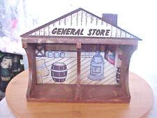"1985 HOL WOOD WALL SHELF 8 1/2  X  3  7""HIGH  SAYS GENERAL STORE"
