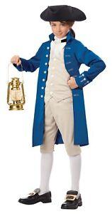 Paul Revere Costume  Boys American Revolution Historical Messenger Child MD-XL
