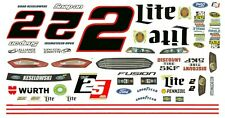 Brad Keselowski #2 Miller Lite 25 Years 1/32nd Slot Car Decals