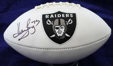 Howie Long Autographed/Signed Oakland Raiders White Logo Football JSA 12180