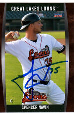 Spencer Navin  Great Lakes Loons 2015 auto signed team set card Dodgers