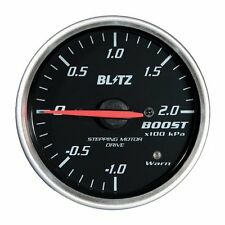 BLITZ RACING METER SD analog meter φ52 BOOST METER Black 19571 from JAPAN