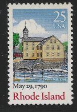 US Scott #2348, Single 1990 Rhode Island 25c VF MNH