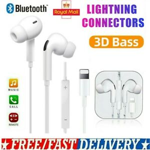 Wired Bluetooth Earphones Headphones Headset For iPhone 11 Pro SE2 X XR 7 8 Plus