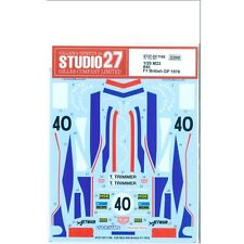 Studio27 DC1166 1:20 McLaren M23 #40 British F1 1978 Decals