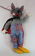 Pelham Puppets Marlborough Wilts Marionette Big Bad Wolf 13.5 Inches Box JH