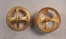 "Set of 6 JHB Gold Round Metal Buttons Cross 1-1/8"" 28 mm lyk0058"