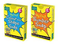My First Colour & Shape and Number Snap Card Games -  Early Years Set - Brainbox