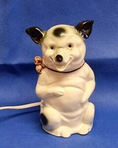 Vintage  Novelty Bulldog  lamp