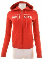 HOLLISTER Womens Hoodie Sweater Size 10 Small Red Cotton  HL08