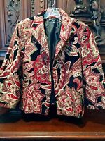 Collection Harve Bernard Tapestry Women's Jacket  Blazer Floral Paisley Size 16