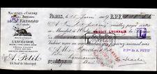"""PARIS III° Arrt / MACHINE à COUDRE EXCELSIOR """"A. PETIT"""" illustrée CASTOR en 1909"""