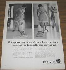 1963 VINTAGE AD~HOOVER SHAMPOO POLISHER~LADY CLEANS
