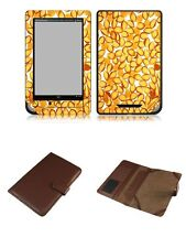Happybird Nook Tablet Nook Color Case Cover with skin combo-brown set3(091)