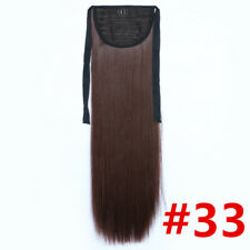 24'' Long Synthetic Tie on Straight Ponytail Hair Extensions Women Hairpieces