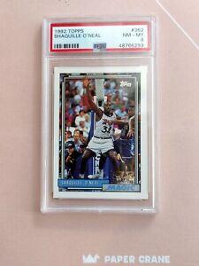 SHAQUILLE O'NEAL 1992-93 Topps #362 Shaq Rookie Card RC - HOF PSA 8