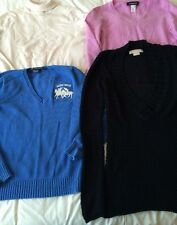 Lot Of 4 Women's Sweaters Michael Kors Ralph Lauren Casual Corner Cashmere JNY M