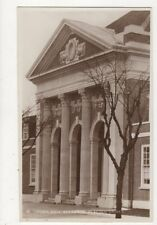 Town Hall Entrance Clacton On Sea Vintage RP Postcard 413a