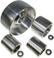 """Belt Grinder wheel set knife grinder 5"""" Drive-24 mm shaft, 3"""" tracking, 2"""" Idle"""