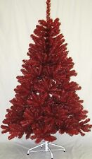 OSU Buckeyes Scarlet and Gray 6' Premium Christmas Tree Team Colored Holiday