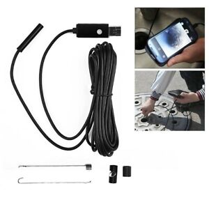 5M (7mm) Pipe Inspection Camera Plumbing Water Proof Drain Endoscope Sewer