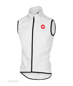 Castelli SQUADRA Vest Lightweight Windproof Cycling Wind/Rain Vest : WHITE