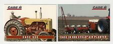 1995 CASE 600 tractor, Cyclo Air Planter, 2 collector/trading cards, #C9  #C10