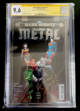 """DARK NIGHTS METAL #1 CGC SS 9.6 Signed SCOTT SNYDER """"Rock On!"""" WHITE Pages DC"""