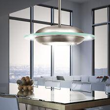 LED Decken Hänge Leuchte Pendel Lampe Stahl Glas Wohnzimmer Büro Licht Rund EGLO