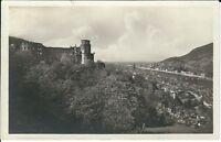 """Ansichtskarte Heidelberg """"Schloßgartenterrasse, Neckar, Brücke"""" - schwarz/weiß"""
